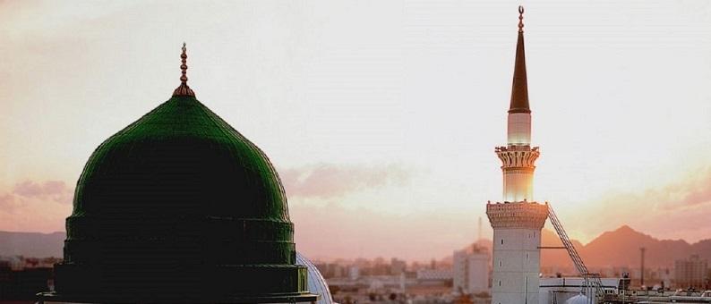 Madinah Green dome - large view