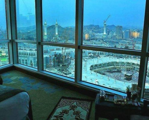 View of Haram Sharif in Makkah from hotel