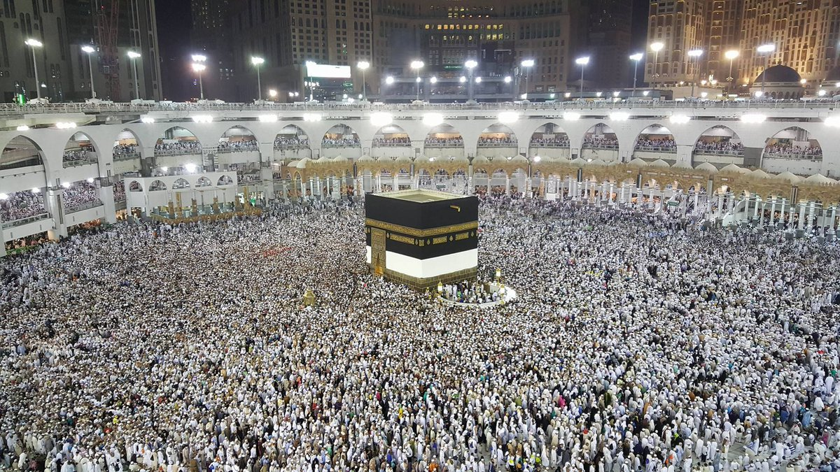 Makkah during Hajj at night