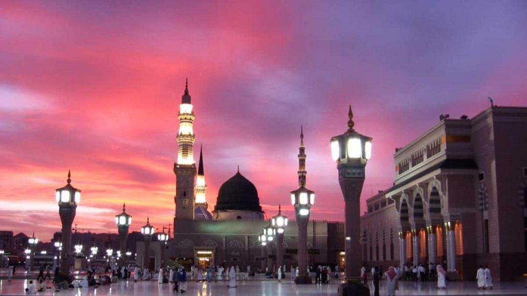 Madinah at sunset